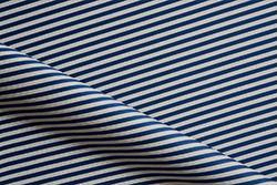 Stripe ottoman